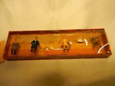 WALTER MERTEN - HO SCALE  - 4 SITTING PEOPLE    MADE IN GERMANY