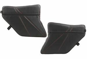 Pro Armor Front Door Knee Pads w/Storage BLACK Stitching Polaris