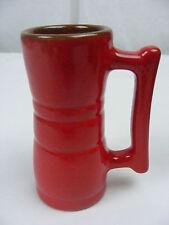 Vintage Frankoma Pottery Red Orange 4 OZ Handled Juice Tumbler Glass 26 DC