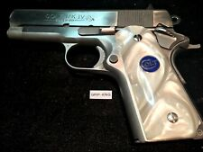 "COMPACT 1911  GRIPS, FITS COLT 3-4-INCH BARREL OFFICERS,""BLUE CLOISONNE"" #363"