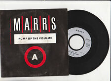 MARRS  ♫ Pump up the volume ♫  1987 Vinyle 7''( 45 tr )Virgin90365