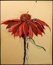 "Sally Anderson ""Cornflower"" Hand Signed Original Lithograph Art, MAKE AN OFFER!"