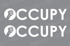 Occupy Wall Street Text Vinyl Decal Sticker