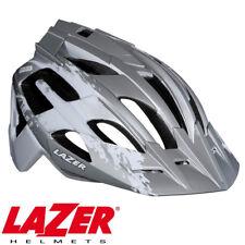 LAZER OASIZ MTB MOUNTAIN BIKE CYCLING TRAIL HELMET - WHITE / SILVER