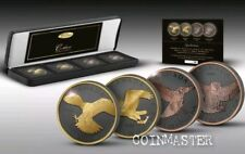 2014,2015 4 Oz Silver $5 GOLDEN ENIGMA BIRDS OF PREY Set Coins..