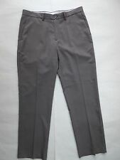 Haggar Clothing Co. Size 36 W x 32 L Gray Dress Pants Flat Front Men's Polyester