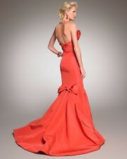 Oscar De La Renta Orange Strapless Mermaid Gown Size 8 $5990