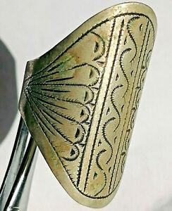 ANCIENT HANDMADE AFRICAN TUAREG RING ETHNIC TRIBAL JEWELRY SILVER GYPSY BOHEMIAN