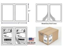 2000 Quality Round Corner Shipping Labels 2 Per Sheet 85 X 55