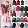 Women Zip Up Hooded Sweatshirt Outwear Hoody Winter Casual Coat Jumper Sport Top