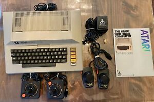Vintage Atari 800 Home Computer Lot Two Joysticks Paddles Tested Works Excellent