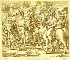 Jacob se leva Gen XXXI Chameaux La Bible Nico Chaperon 1649 ap Raphaël Vatican