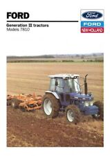 FORD TRACTOR 7810 NEW HOLLAND SALES BROCHURE/POSTER ADVERT COVER A3