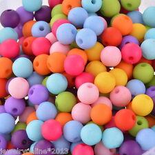 300 Mix Farben Acryl Rund Kugel Spacer Perlen Beads Opak 8mm