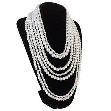Multi-layer Pearl vogue Necklace Bohemian Pendant Choker Multi-layers Women