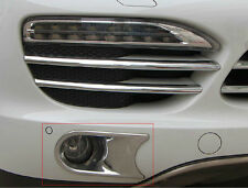 8pcs Chrome Front Grills and Fog Lights Trim for Porsche Cayenne 2011-2014