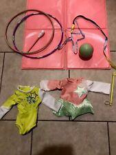 American Girl Doll Rhythmic Gymnastics Set Leotards Mat Hoop Ribbon Ball Mckenn