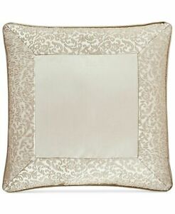 J. Queen New York La Scala 18-Inch Square Throw Pillow Gold Bed Decorative NEW