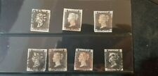 The Penny Black 1840-1841 World's First Postage Stamp LOT OF 7 GREAT CONDITION!!