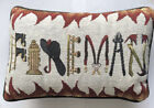 """Fireman Embroidered Graphic Pillow Couch/Chair /Bed 12"""" x 7.5"""""""