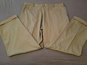 Mens Nike Golf Pants 42x32 Khaki Athletic Slack Trouser