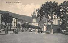 Madeira Cathedral Street Scene Antique Postcard J65776