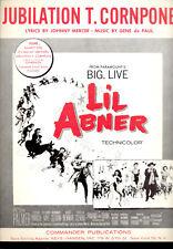 "L'IL ABNER Sheet Music ""Jubilation T. Cornpone"" Julie Newmar Stella Stevens"