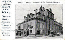 Kendal. County Hotel & Garage. R.N.Woodend, Manager..
