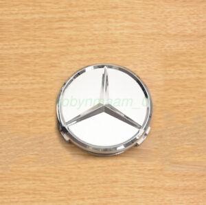 4Pcs Centre Wheel Caps for Mercedes Benz Alloy SILVER C63 CLA AMG GLE GLC AU