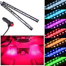 2PCS 12LED Red Cigarette Lighter Car Interior Floor Atmosphere Light Strip