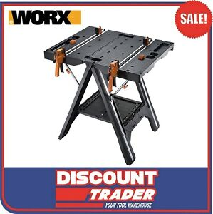 WORX Pegasus Multifunction Work Table & Saw Horse Quick Clamps & Pegs - WX051