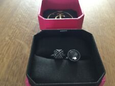 NIB Juicy Couture New & Genuine Gold Plated & Black Gemstone & Diamante Rings