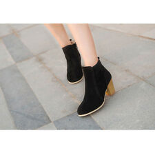 Women Fashion Spring Ankle Bootts High Heel Gladiator Shoes Martin Boot Black 36