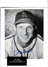 CARDINALS STAR AND HALL OF FAMER STAN MUSIAL SIGNED PICTURE ALL CENTURY TEAM