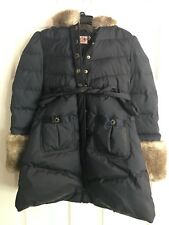 Juicy Couture Navy Blue Girl's Winter Hooded Jacket Size 10