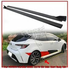 Painted For TOYOTA Auris Corolla E210 5D Hatchback Side Skirt Body Kit 2019up