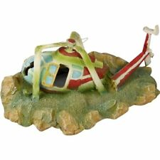 Private Helicopter Wreck Aquarium Fish Tank Ornament Decoration
