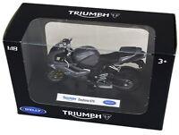 Welly Diecast Licenced 1:18 Scale Motorbike Model ~ Triumph Daytona 675
