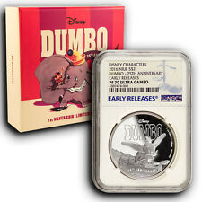 2016 Disney Dumbo NGC PF70 Early Releases NIUE 1 oz Proof Silver Coin