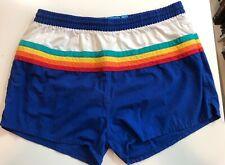 VTG Mens Freestyle Swimwear Rainbow Swim Trunks Sz Large Short Shorts Pride