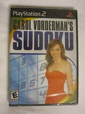 Carol Vorderman's Sudoku (Playstation PS2) Brand New, Sealed~
