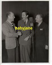 WALT DISNEY ORIGINAL 8X10 PHOTO CANDID 1930's ON RADIO SHOW