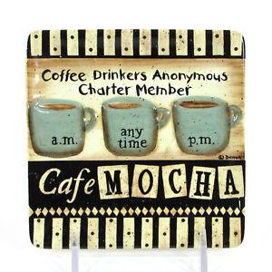 "MWW Market COFFEE - CHARTER MEMBER 4.5"" Mini Plate Cafe Mocha Donna Atkins"