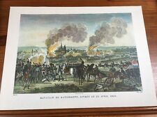 """Napoleon Battle Engraving Conquest Of Ratisbon 1809 17.5"""" X 13"""" Excellent"""