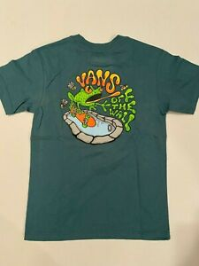 Vans New Pool Frog T-Shirt Youth Boy's Size 5/M