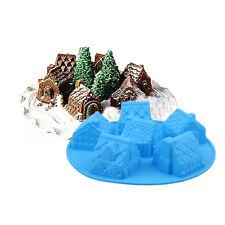Silicone Christmas Party Cake Fondant Decor Mold House Cake Chocolate DIY Mould