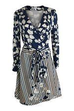DIANE VON FURSTENBERG Amelia Cotton Silk Belted Wrap Dress (12)