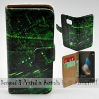 For Huawei Series - Matrix Abstract Theme Print Wallet Mobile Phone Case Cover