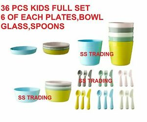 IKEA Children Plastic Sets Cutlery / Cups / Plates / Bowls – Kids /Baby / Party
