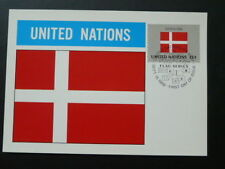 national flag of Denmark maximum card United Nations Uno 70261